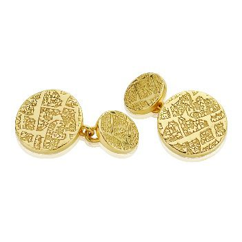 Silver gilt chain cufflinks - Dominic Walmsley