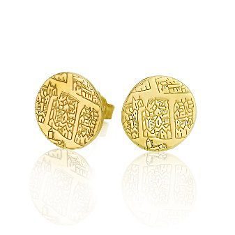 Large Gilt earrings – St Andrews collection - Dominic Walmsley