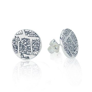 Large sterling silver earrings – St Andrews collection - Dominic Walmsley