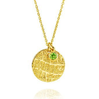St Andrews collection   Silver gilt pendant with peridot - Dominic Walmsley