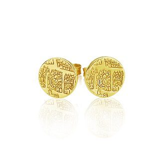 Small earrings Gilt – St Andrews collection - Dominic Walmsley