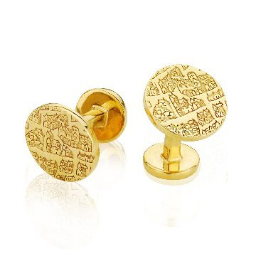 Solid cufflink gilt – St Andrews collection - Dominic Walmsley