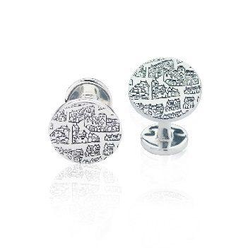 Sterling silver cufflinks – solid bar - Dominic Walmsley