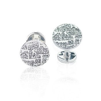 Sterling silver solid bar cufflinks – St Andrews Collection - Dominic Walmsley