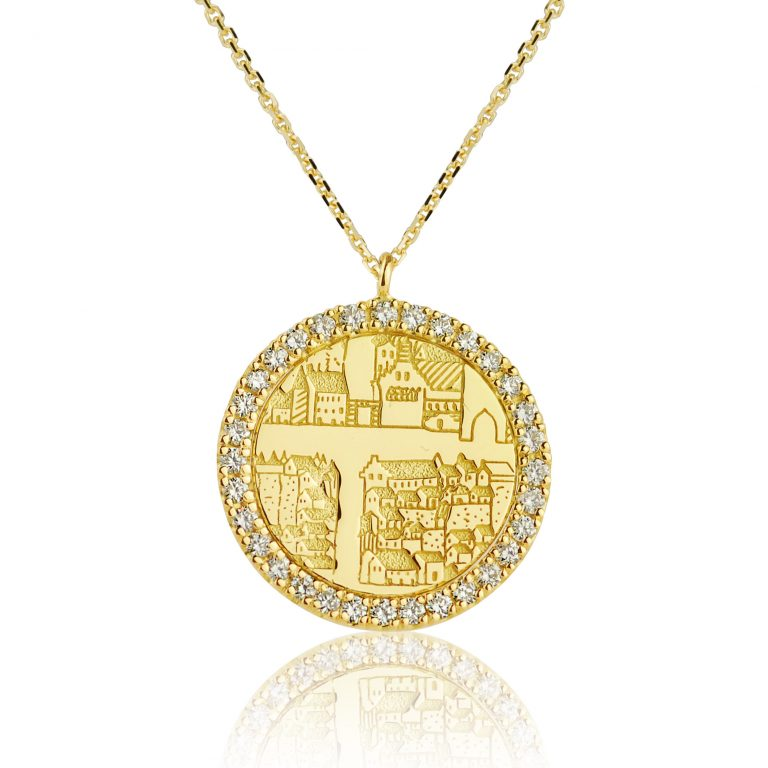 Gold and Diamonds Pendant – St Andrews Collection - Dominic Walmsley
