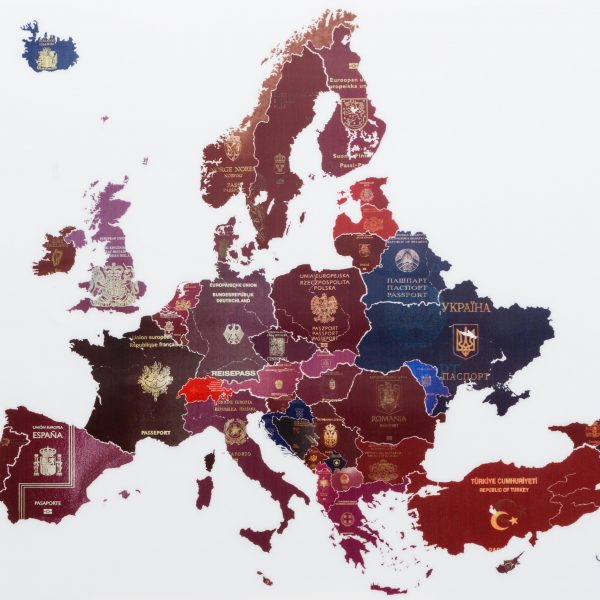 Europe Passport Map – poster - Yanko Tihov