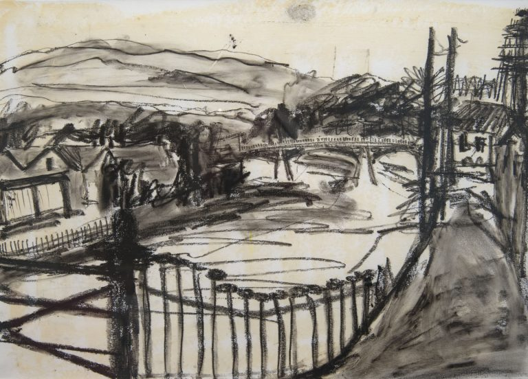 Esk at the Suspension Bridge - Ruth Nicol