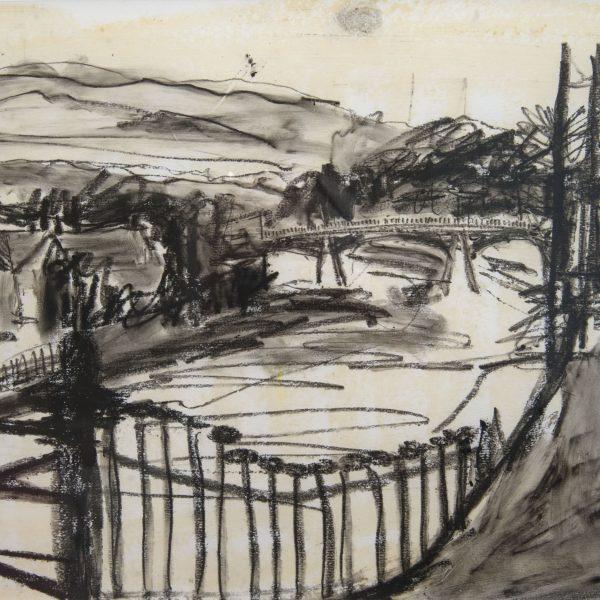 Esk at the Suspension Bridge - Ruth Nicol