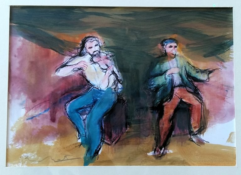 ALY BAIN and JIMMY MacBEATH – Study for Scotland's Voices - Alexander Moffat OBE RSA