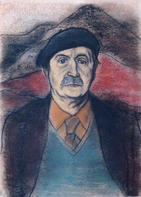 Portrait of Sorley MacLean - Alexander Moffat OBE RSA