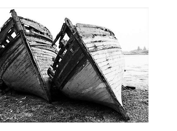 Abandoned Boats at Salen, Mull - Alistair Macnaughton
