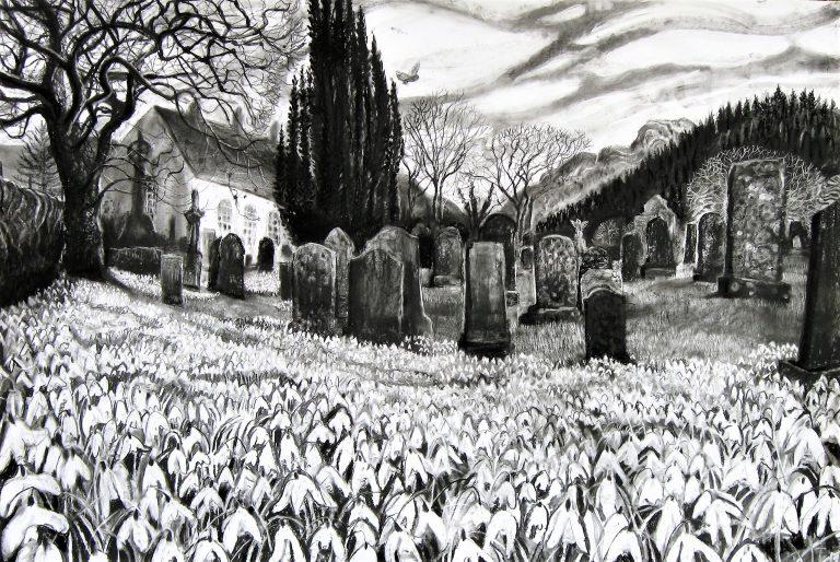 Snowdrops in Kirkton - Sarah Longley