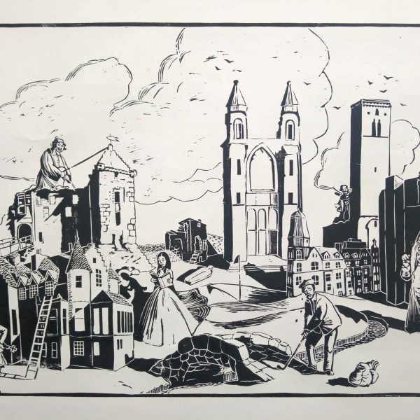 St Andrews Ghost Stories   Limited edition woodcut - Friederike Seide