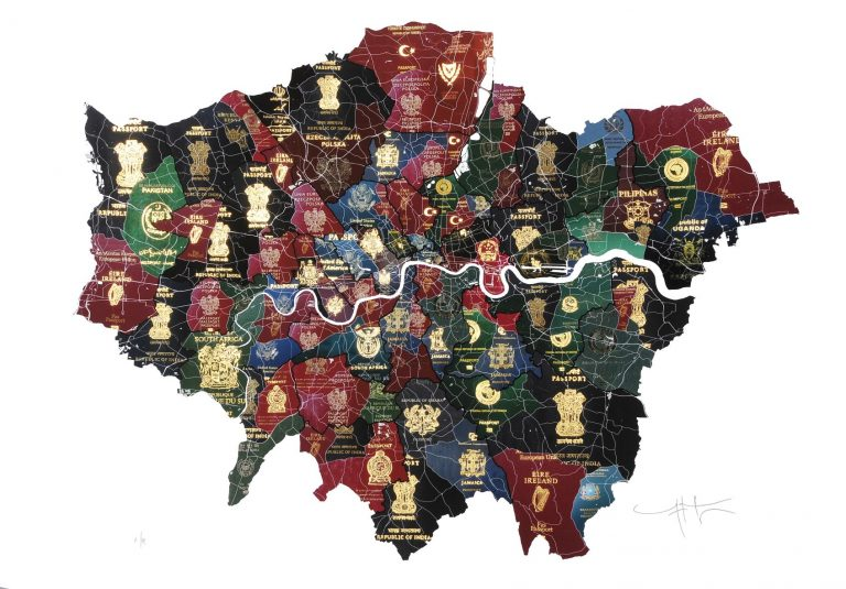 London Passport Map - Yanko Tihov