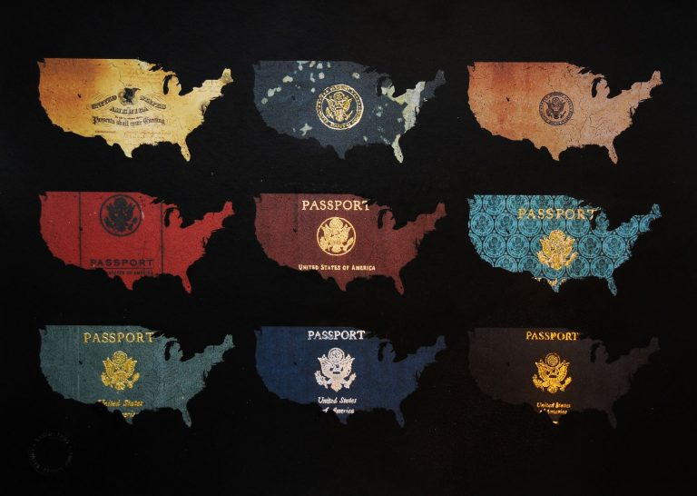 USA Passport Map - Yanko Tihov
