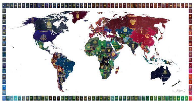 World Passport Map - Yanko Tihov