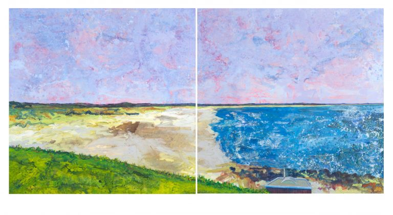 West Sands, St Andrews I and II – diptych - Ruth Nicol