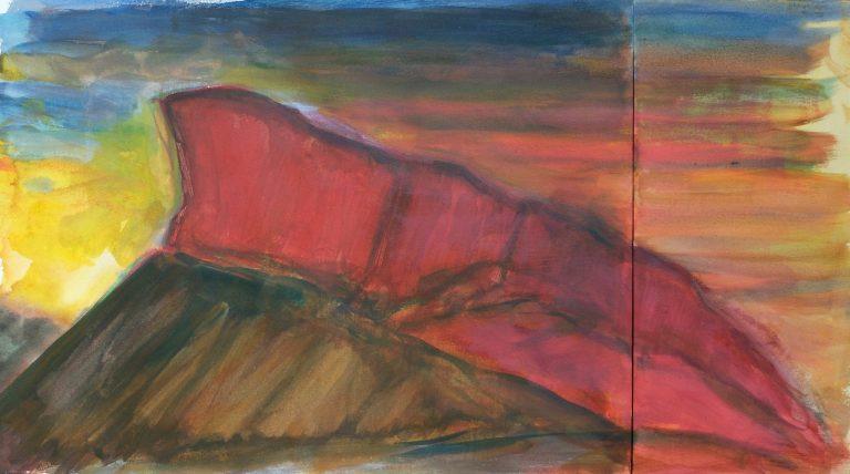 The Crags (Radical Road)  I - Alexander Moffat OBE RSA