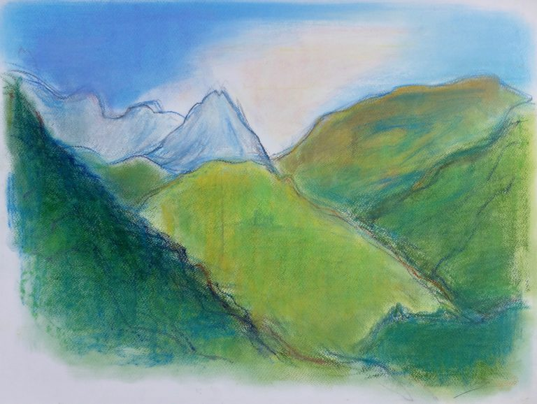 The Apuan Alps  I - Alexander Moffat OBE RSA