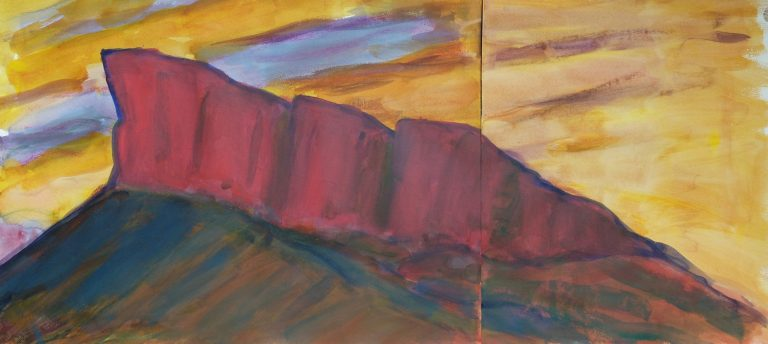 The Crags (Radical Road)  II - Alexander Moffat OBE RSA