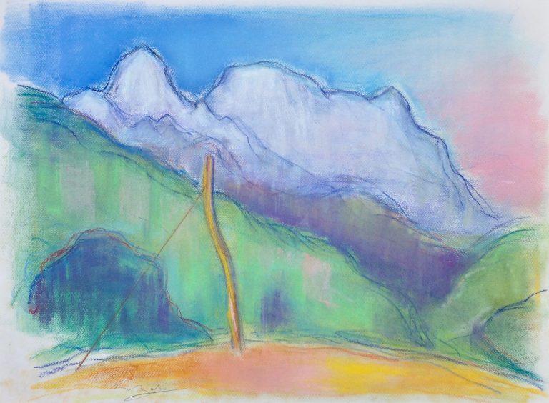 The Apuan Alps  II - Alexander Moffat OBE RSA