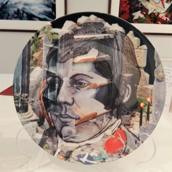 Commemorative plate – from 'Portrait of Robert Burns (after Archibald Skirving) - Calum Colvin OBE RSA