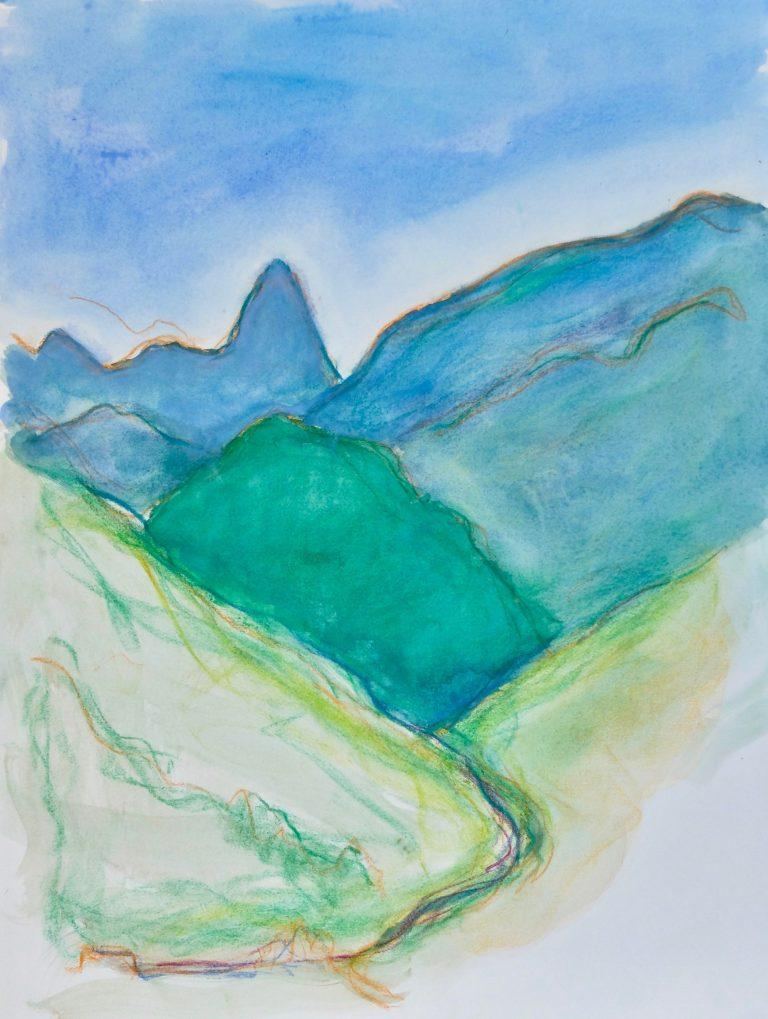 The Apuan Alps  XIV - Alexander Moffat OBE RSA
