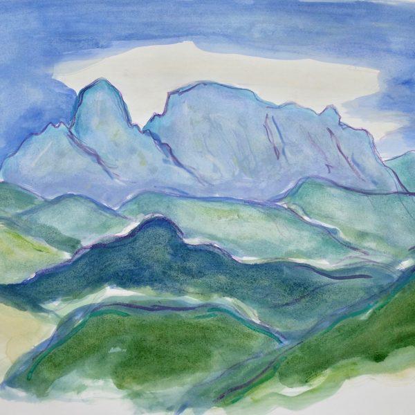 The Apuan Alps  V - Alexander Moffat OBE RSA