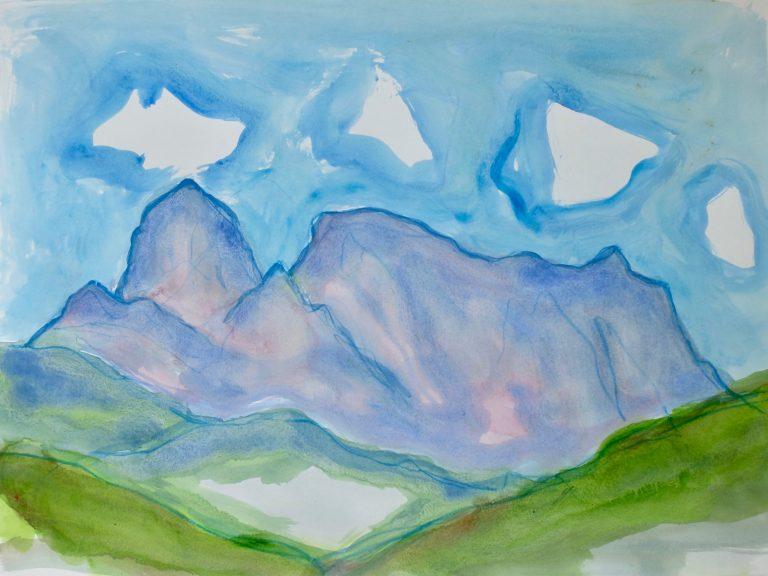 The Apuan Alps  VI - Alexander Moffat OBE RSA
