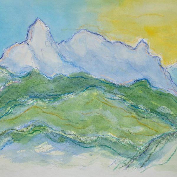 Apuan Alps  VIII - Alexander Moffat OBE RSA