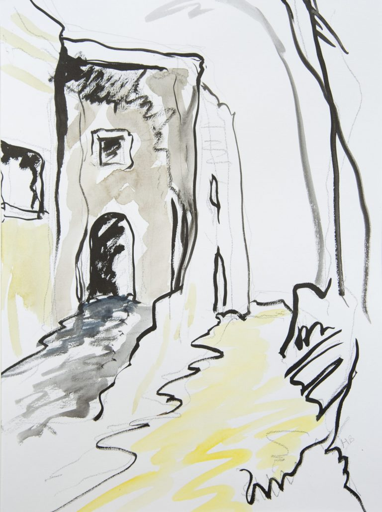 Ruined Chapel, Bargecchia, Italy - Helen Bellany