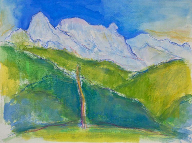 The Apuan Alps  IX - Alexander Moffat OBE RSA